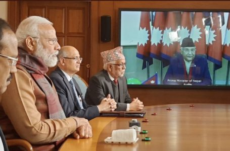 PM Narendra Modi and Nepal's PM KP Sharma Oli jointly inaugurated the second Integrated Check Post at Jogbani-Biratnagar built with Indian assistance, on Tuesday via video conferencing.