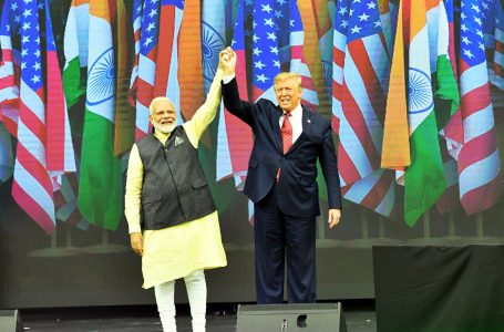 The Prime Minister, Shri Narendra Modi with the President of United States of America (USA), Mr. Donald Trump at the Howdy Modi, in Houston, USA on September 22, 2019.