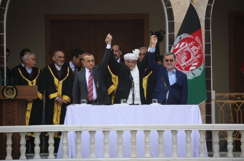 Ghani Sworn In During Rocket Firing, Abdullah Holds Parallel Ceremony