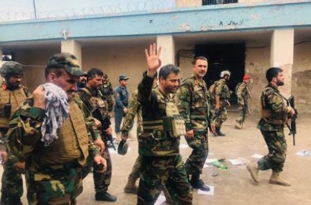 Hours before the attack on a prison in Jalalabad ended on Monday, Afghan chief of army staff General Yasin Zia arrived in the province. (Photo: Tolo News)