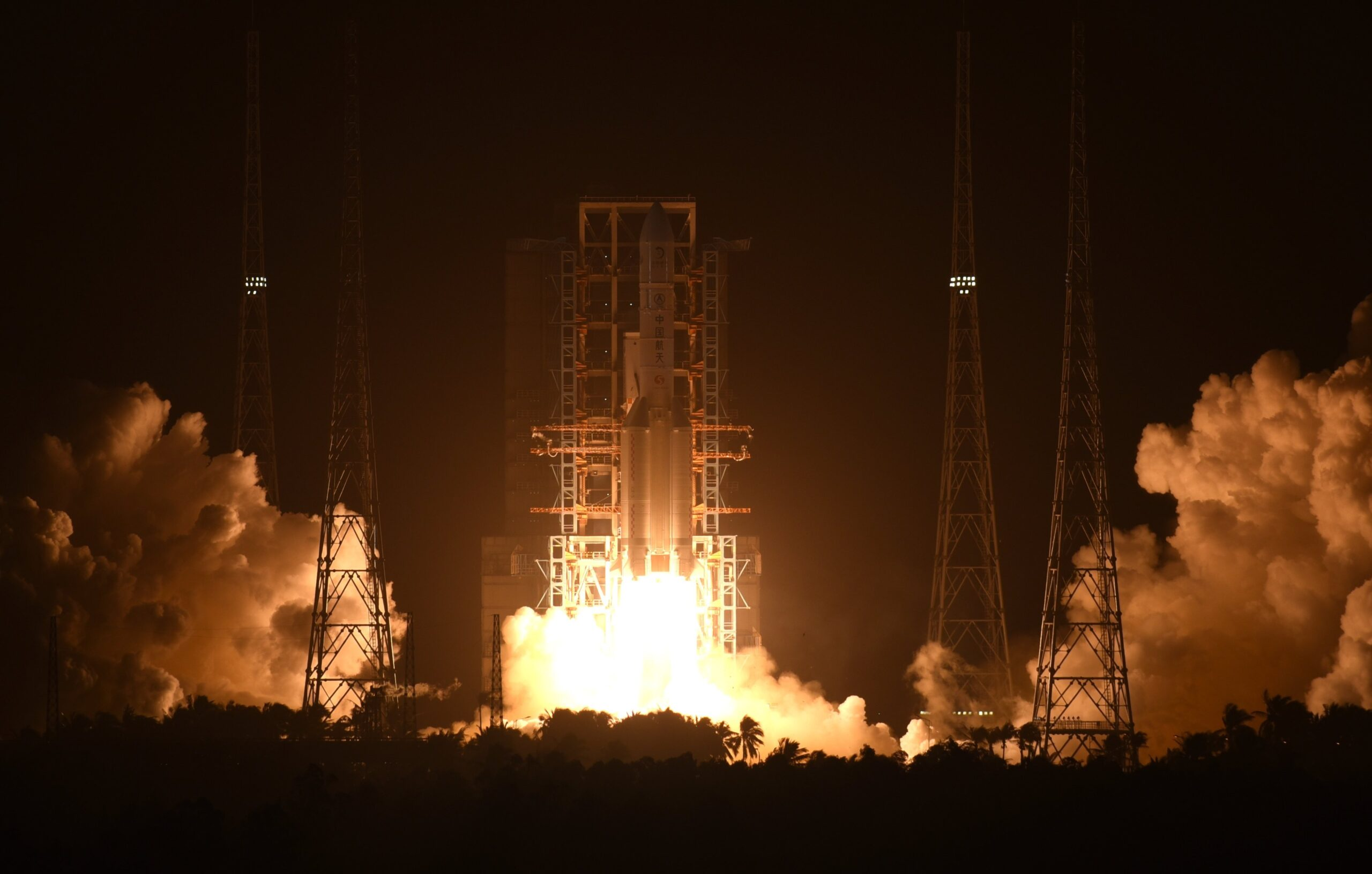 China launched its first-ever lunar sample return mission from Wenchang Space Launch Center in Hainan Province early on Tuesday. (Photo: @globaltimesnews)