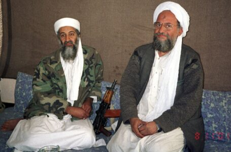 Ayman al-Zawahiri (right) took over the leadership of terror group Al-Qaeda after Osama bin Laden was killed in a U.S. strike in Pakistan in 2011.