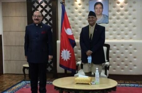 RESET IN TIES: In a break from protocol, foreign secretary Harsh Vardhan Shringla had a one-on-one meeting with Nepalese PM K.P.Sharma Oli in Kathmandu on Thursday.