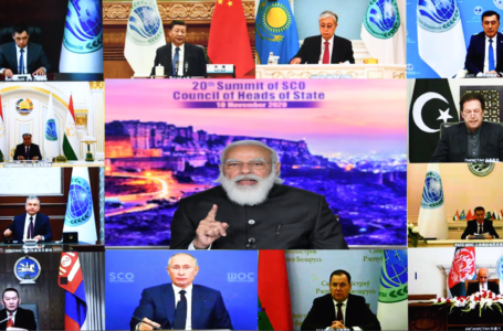 Prime Minister Narendra Modi at the SCO Virtual Summit held on Tuesday. Among the other leaders of member states who participated in the summit were Russian president Vladimir Putin and Chinese president Xi Jinping.