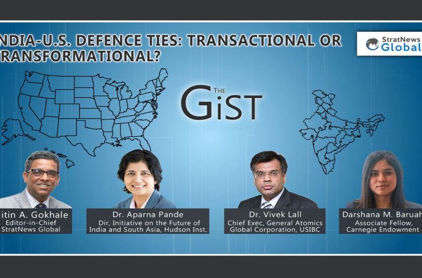 India-U.S. Defence Ties: Transactional Or Transformational?